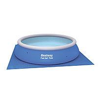 Подложка для бассейна Flowclear 396 х 396 см BESTWAY 58002 Винил Для бассейнов диаметром 366 см Синий Цветная