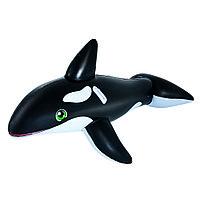 Надувная игрушка для катания верхом Касатка 203 х 102 см Bestway 41009 Черно-белый Цветная коробка