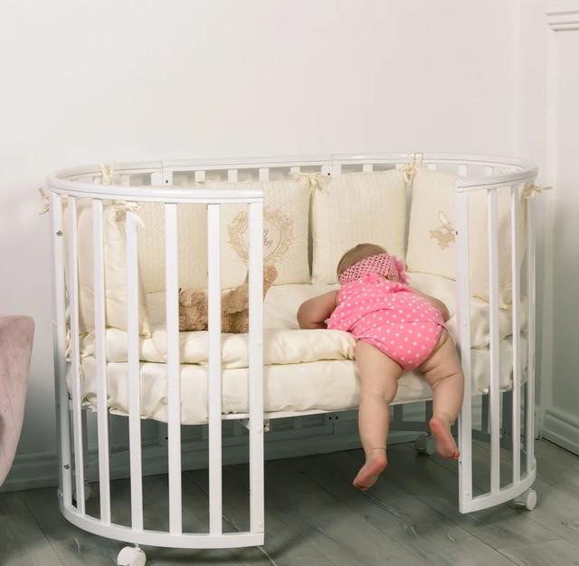 Круглые и овальные кроватки для новорожденных