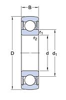 3207 А-2RS1/MT33   подшипник  SKF