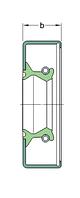 CR 13535   манжетное уплотнение SKF