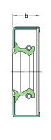 17387  манжетное уплотнение SKF ( 44.45 X63.55X7.95)