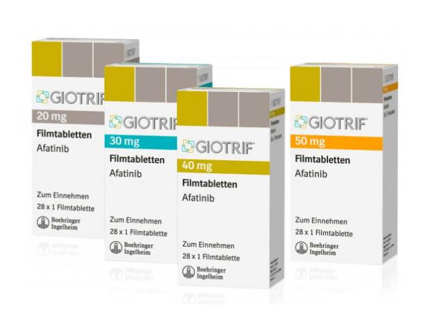 Гиотриф (Giotrif) афатиниб (afatinib) 20 мг, 30 мг, 40 мг, 50 мг таб. (Европа)