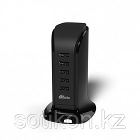 Зарядное устройство сетевое Ritmix RM-5055AC черный 5 USB