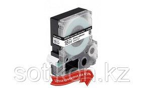 Лента Epson C53S655012 LK5WBW9 Повышенной адгезии 18 мм, Бел./ Черн., 9м