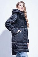 Куртка утепленная, комбинированная, 40-50, черная