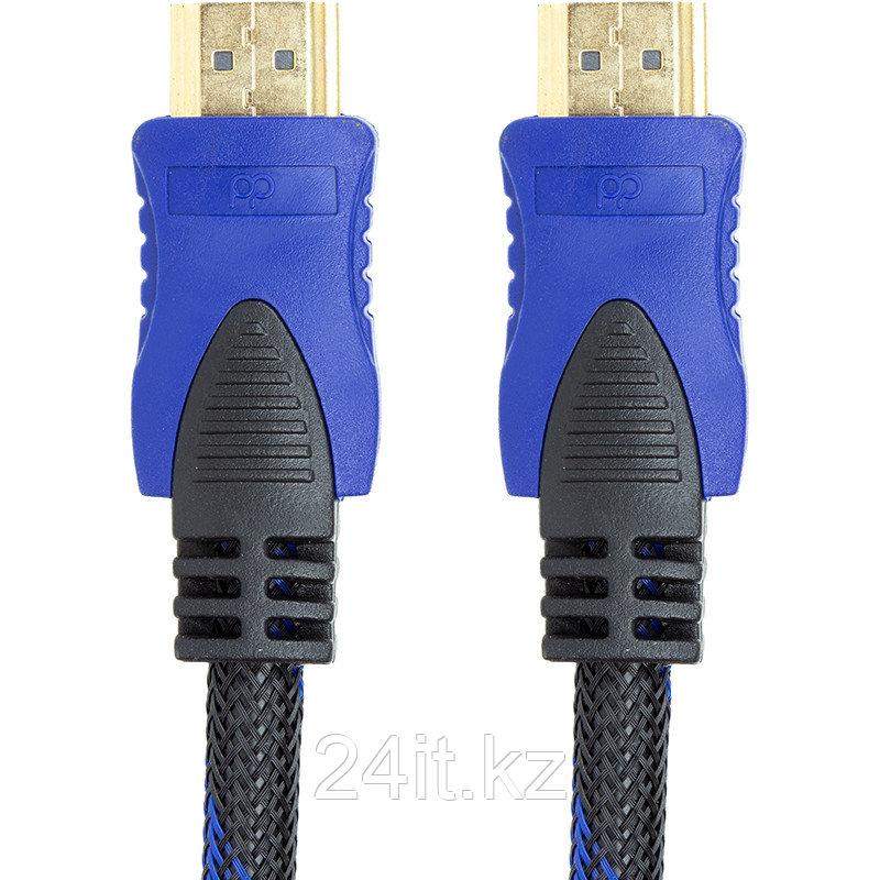 Видeo кабель PowerPlant HDMI - HDMI, 3m, позолоченные коннекторы, 1.3V, Nylon, Double ferrites