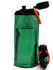 Складная эко бутылка без фильтра для холодных или горячих пищевых жидкостей Vitdam 700 мл (темно-зеленая)