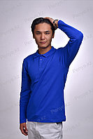 Рубашка Поло с длинным рукавом 95% Хлопок 5% Лайкры