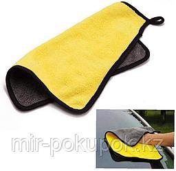 Полотенце микрофибра для авто двухстороннее 30*30