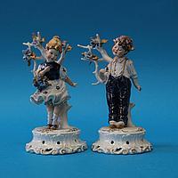 Парные фигуры детей Фарфоровая мануфактура Vier Tasca / Capodimonte