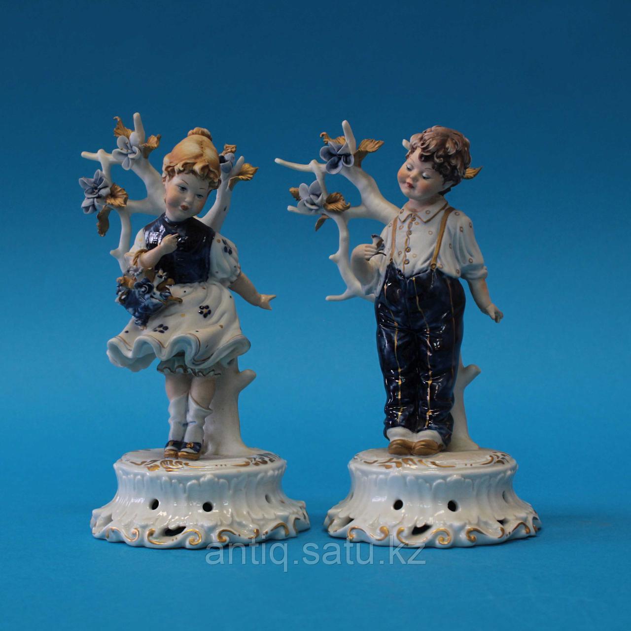 Парные фигуры детей Фарфоровая мануфактура Vier Tasca / Capodimonte - фото 1