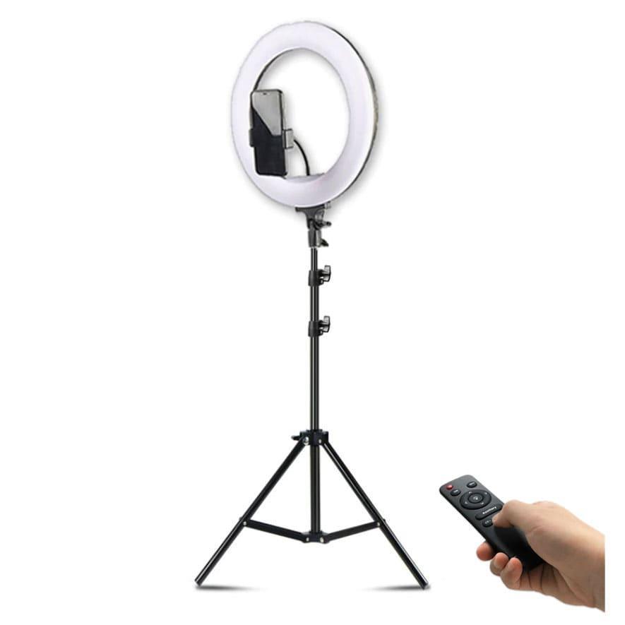 Кольцевая лампа 32см с пультом ДУ для стрима, мобильной фото/видео съёмки RING SUPPLEMENTARY LAMP CST-315 - фото 5