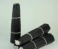 Восковые Конусные черные свечи 20см/50 шт, фото 1