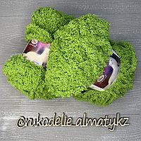Пряжа детская для ручного вязания «Детская махра» 0+ салатовый