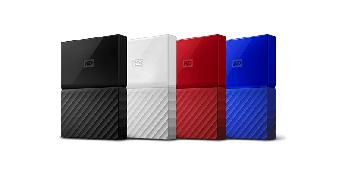 """Накопитель на жестком магнитном диске WD Внешний жёсткий диск WD My Passport WDBUAX0020BBL-EEUE 2TB 2,5"""" USB"""