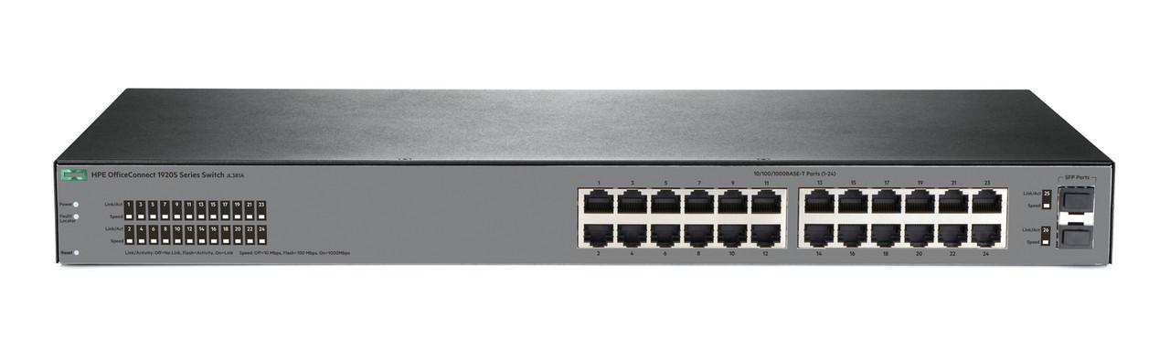 Коммутатор JL381A HPE OfficeConnect 1920S 24G 2SFP Layer 3 Switch, 1U (24xRJ-45 10/100/1000 ports, 2xSFP