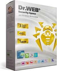 Программное обеспечение Dr.Web Security Space  GOLD Лицензионный сертификат для 1 ПК на 3 года+ 3 месяца в