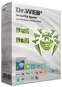 Программное обеспечение Dr.Web Security Space Лицензионный сертификат для 1 ПК на 1 год + 1 месяц в подарок