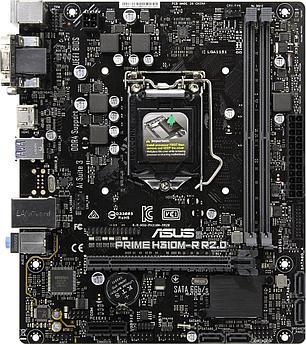 Сист. плата Asus PRIME H310M-R R2.0, H310, S1151, 2xDIMM DDR4, PCI-E x16, PCI-E x1, 4xSATA, HDMI, VGA, DVI