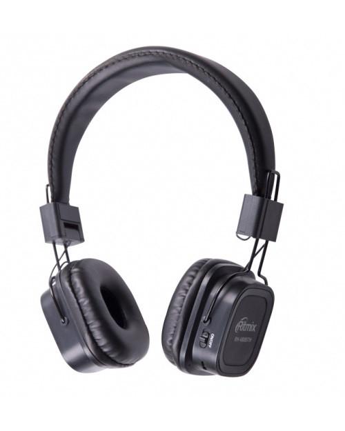 RITMIX RH-480BTH Гарнитура Bluetooth+ кабельное подключение + встроенный FM-приемник,