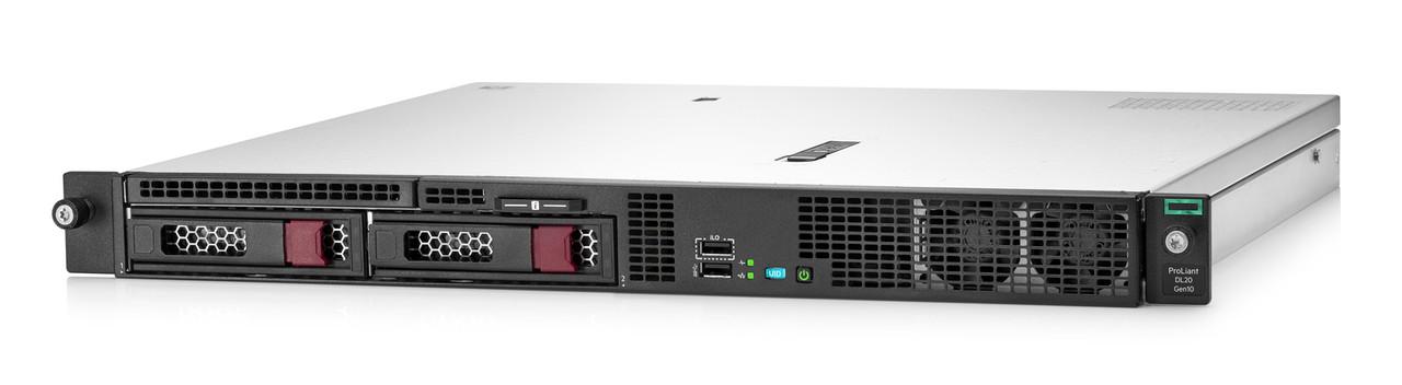 Сервер HPE P06477-B21 DL20 Gen10 1U (Xeon E-2124(4C-3.3G)/ 1x16GB U/ 2 LFF LP hp/ SATA RAID/ 2x1GbE/ 290W/