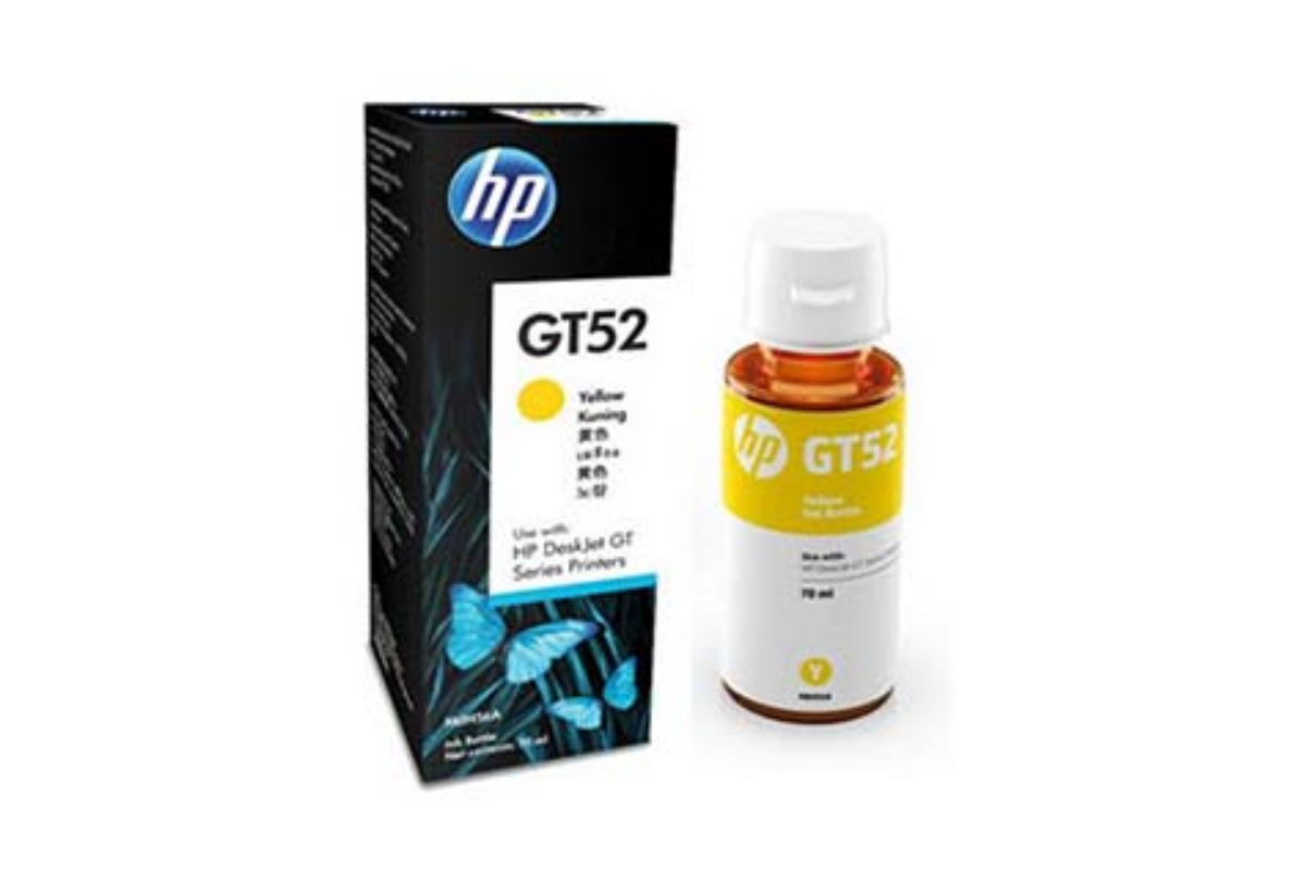 HP M0H56AE GT52 Yellow Original Ink Bottle  for DJ GT5810/5820 , up to 8000 pages