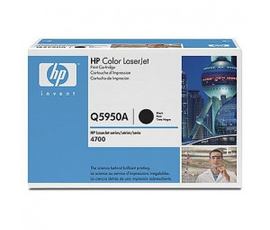 HP Q5950A Black Print Cartridge for Color LaserJet 4700, up to 11000 pages.