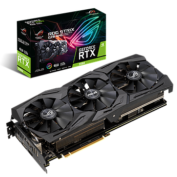 Видеокарта Asus ROG-STRIX-RTX2060-6G-GAMING, GDDR6 6GB,192-bit, HDMI2,Display2