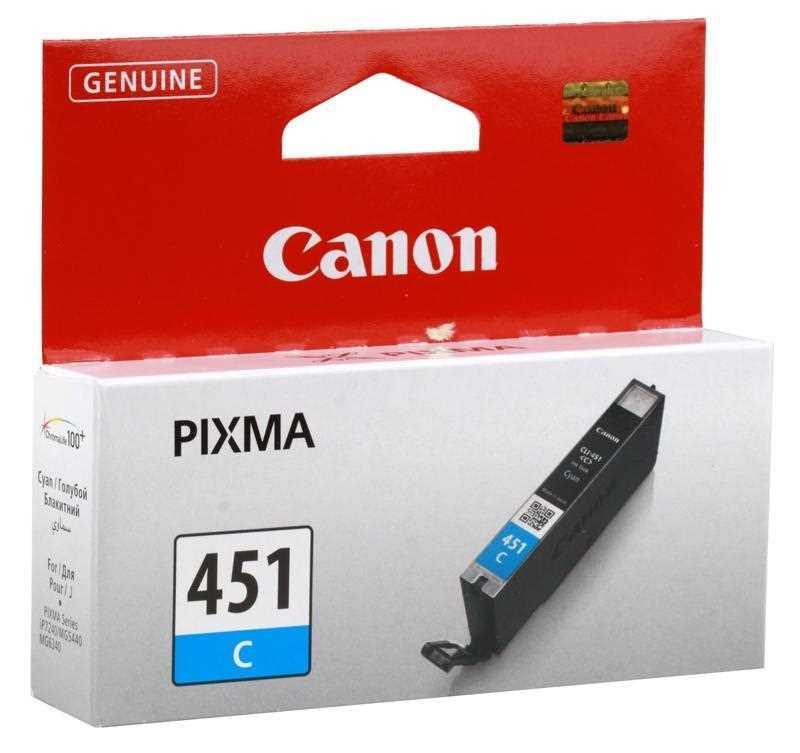 Картридж Canon 6524B001, CLI-451C голубой для iP7240/MG5440/MG5540/MG6340/MG6440/MG7140/MX924