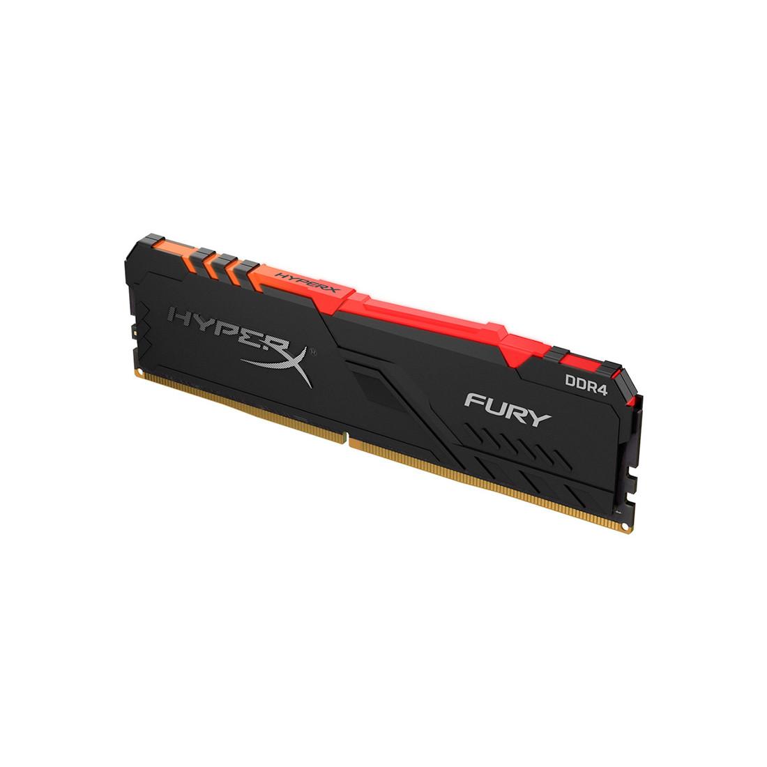 ОЗУ Kingston HyperX Fury RGB 8GB 2666MHz DDR4 CL16 DIMM XMP HX426C16FB3A/8