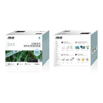 Оптический привод Asus DRW-24D5MT/BLK/B/AS/P2G DVR-ReWriter, 24X DVD writing speed SATA, Black