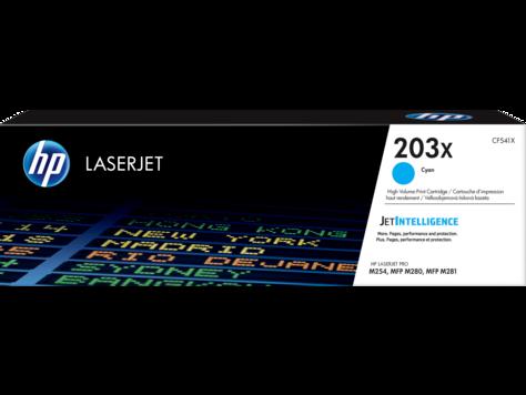 HP CF541X 203X Cyan LaserJet Toner Cartridge for M254/M280/M281, 2500 pages