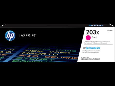 HP CF543X 203X Magenta LaserJet Toner Cartridge for M254/M280/M281, 2500 pages