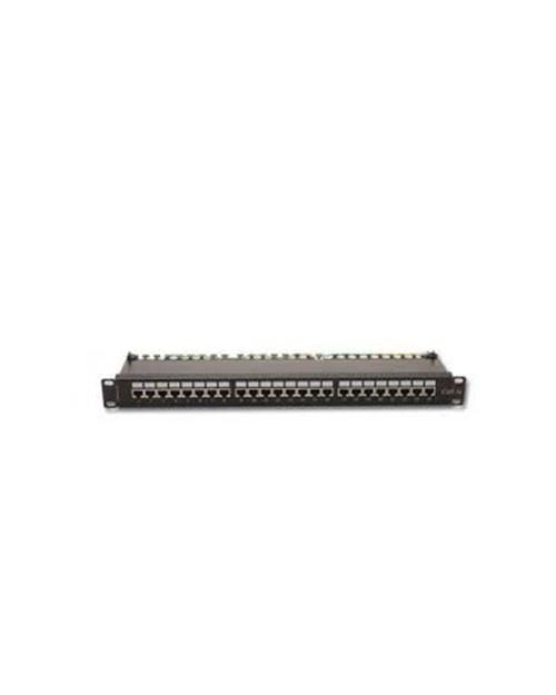 """175212412 Premium Line Патч-панель экранированная, 24 порта Кат. 5е, 19"""" Dual Type IDC, цвет черный"""