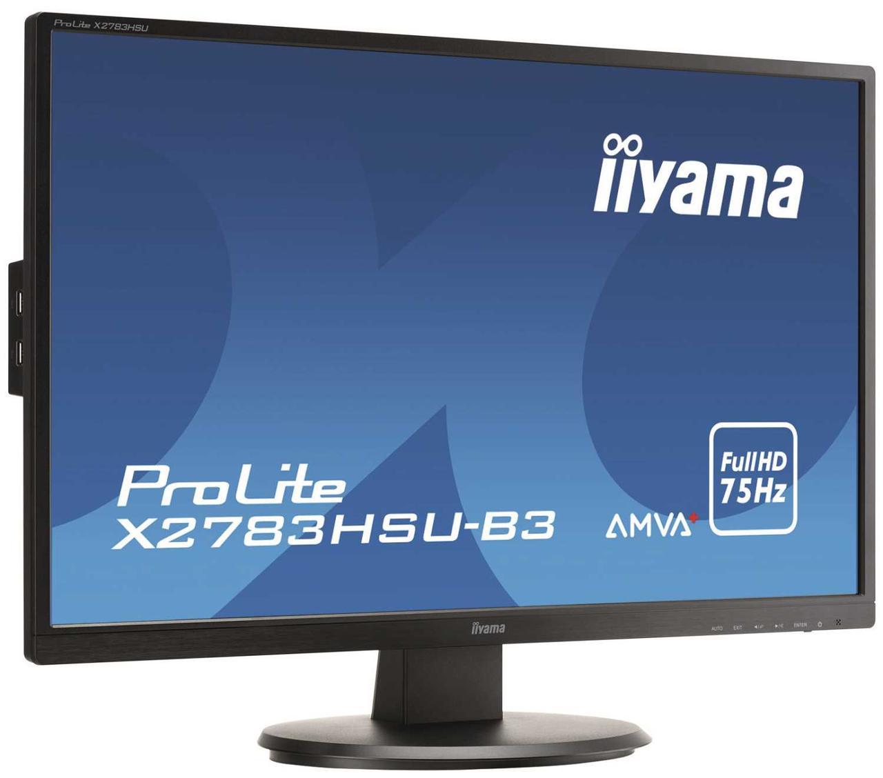 Монитор жидкокристаллический Iiyama Монитор LCD 27'' [16:9] 1920х1080 MVA, nonGLARE, 300cd/m2, H178°/V178°,