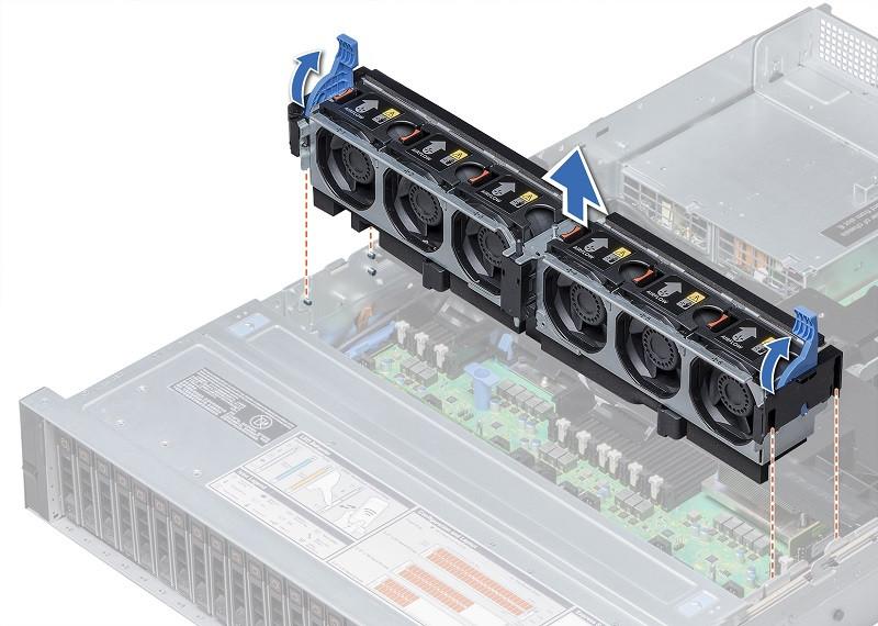 Вентилятор Dell 6 Standard Fans for R740/740XD,CK (384-BBQD)