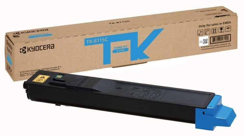 Картридж KYOCERA Тонер-картридж TK-8115C 6 000 стр. Cyan для M8124cidn/M8130cidn