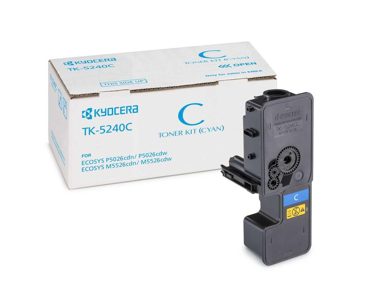 Картридж KYOCERA Тонер-картридж TK-5240C 3 000 стр. Cyan для P5026cdn/cdw, M5526cdn/cdw