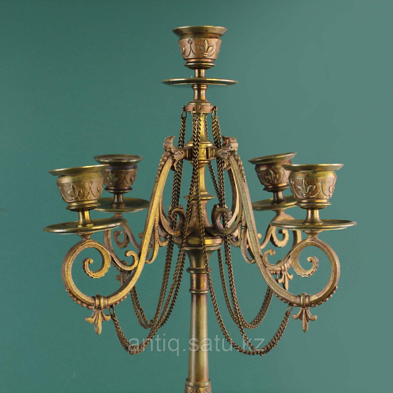 Пара канделябров в стиле Наполеона III. Франция. XIX век - фото 6