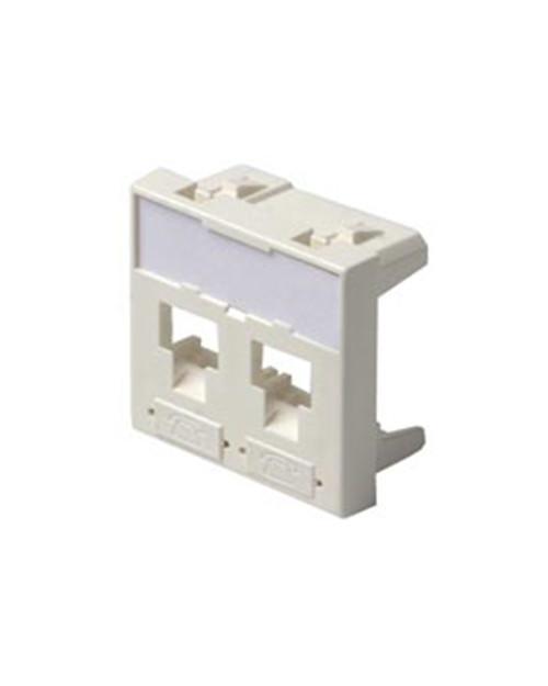 3M FQ100079778 Лицевая панель под модуль Volition®, 2-порта, 45 х 45, белая