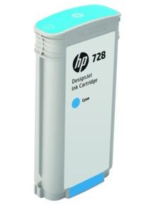HP F9J67A 728 130-ml Cyan Ink Crtg, for DesignJet T730, T830 MFP