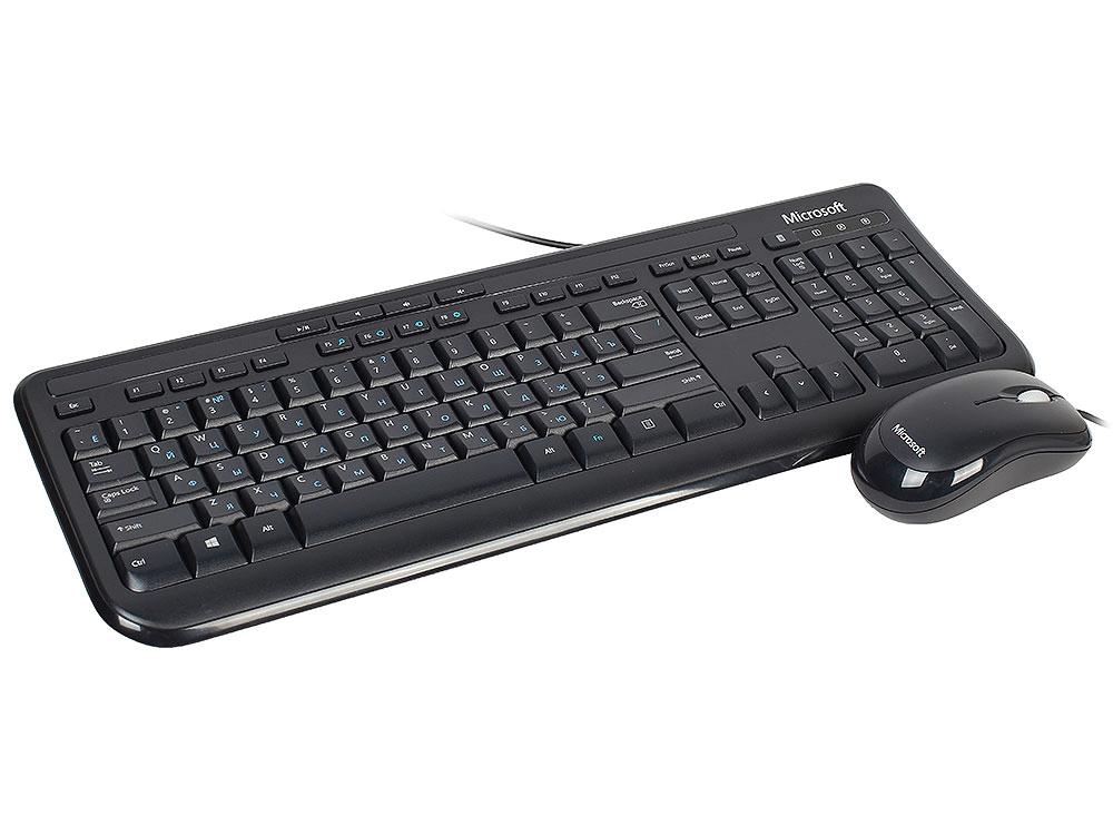 Комплект Microsoft Wired Desktop 600, черный, USB, For Business (арт. 3J2-00015)