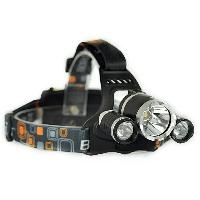 Налобный фонарь с 3 светодиодами и с 2 аккумулятороми