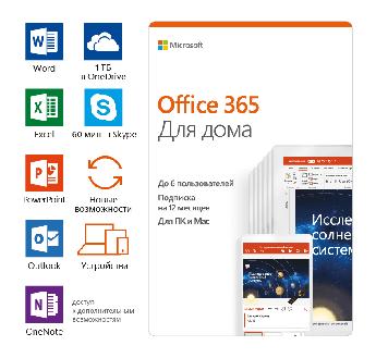 Право на использование программного обеспечения Microsoft Microsoft 365 Family AllLng Sub PK Lic 1YR Online