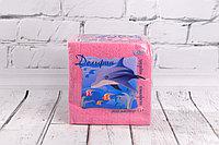 Салфетки цветные бумажные Дельфин