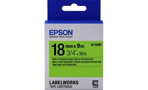 Лента Epson C53S655005 LK-5GBF Флуоресцентная лента 18мм,Зел./Черн., 9м
