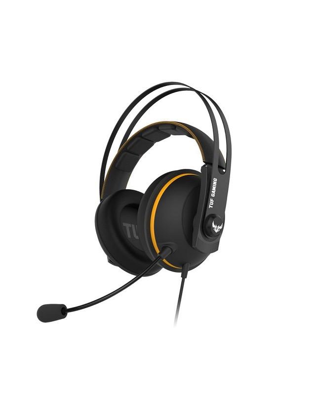 Игровая гарнитура ASUS TUF Gaming H7 Core Yellow 90YH01RY-B1UA00, 20 ~ 20000 Гц, 32 Ом, разъем 3.5 мм.Длина