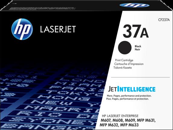 HP CF237A 37A Black LaserJet Toner Cartridge for LaserJet M631/M632/M607/M608/M609, up  to 11000 pages