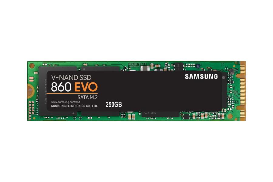 Жесткий диск SSD Samsung 250 Gb 860 EVO M.2 SATA III  MZ-N6E250BW